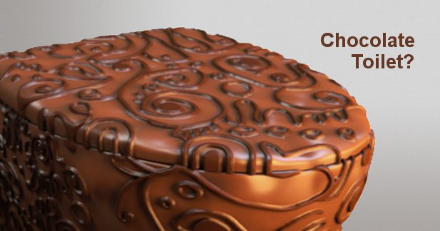 Chocolate Toilet And Other Bathroom Fixtures